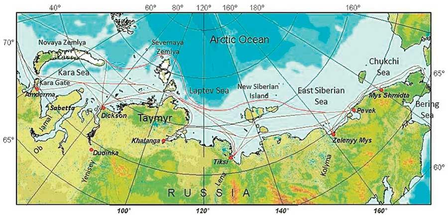 nordøstpassasjen kart Et spennende år for nordlige sjøruter   Skipsrevyen.no nordøstpassasjen kart