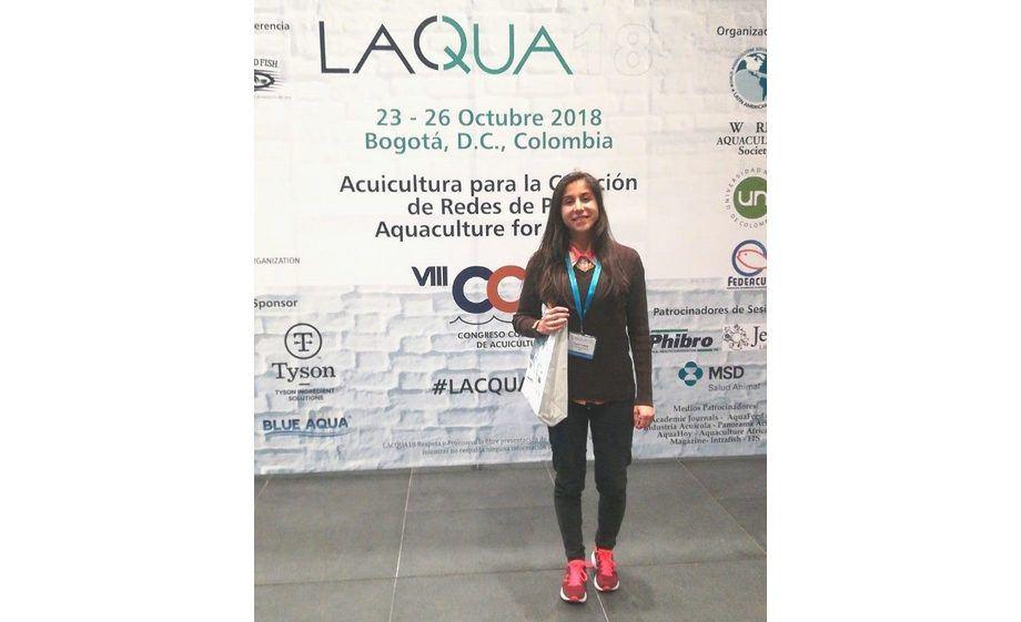 """Rayen Collipal-Matamala, de la Línea de Investigación """"Genómica Acuícola"""" (RP1) del Incar. Foto: Incar."""