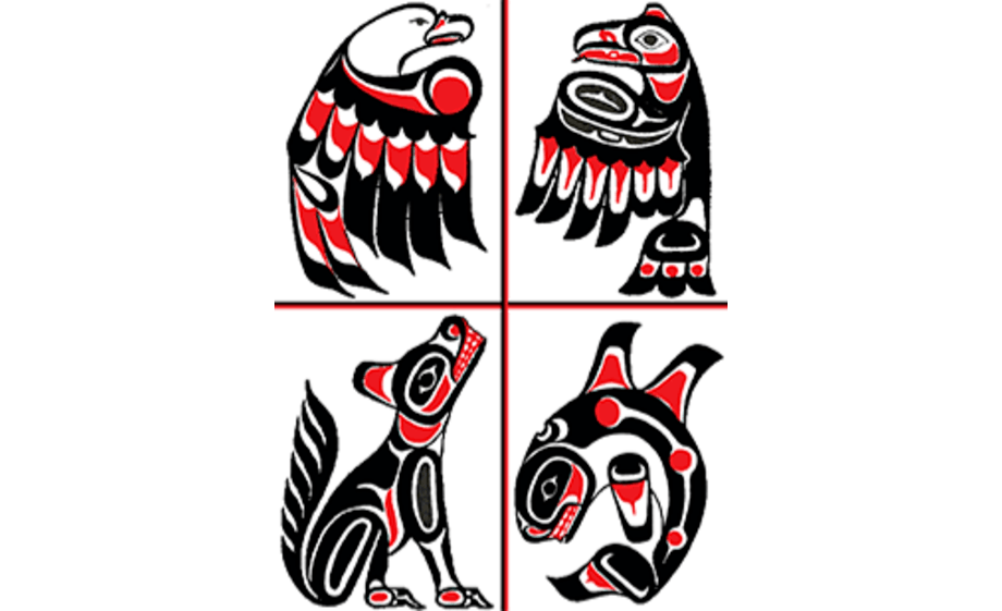Traditional symbols that represent the Kitasoo/Xai'xais Nation. Image: Kitasoo/Xai'xais Nation