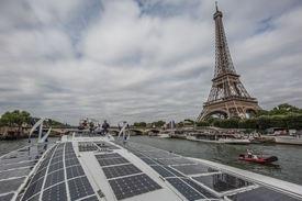 Avreise fra Paris. Foto: Jeremy Bidon/Energy Observer