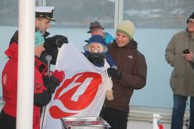 Lille Johannes var den som kom nærmest med å tippe riktig tidspunkt for kryssing av polarsirkelen. Foto: MSVibeke Blich