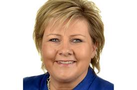 Erna Solberg: Wants to see all fish farms become fully electrically powered.