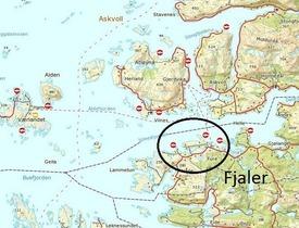 Tre av lokalitetene til Sandnes Fiskeoppdrett i Fjaler. Kartillustrasjon.