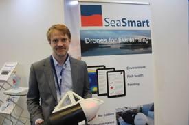 Andreas Morland og Seasmart vant med sin undervannsdrone som kan måle og overvåke tilstanden i merden.