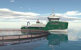 Møre Maritime i Kristiansund inngikk i 2015 designkontrakt om utvikling av et havbruk slaktefartøy på 36 x 12 meter til