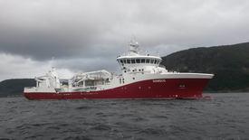 Selskapet beskriver det nye fartøyet som - En flott og effektiv brønnbåt på Sognefjorden. Foto: Havyard Group AS