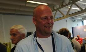 Andreas Lindhom er grûnder av Norsk Oppdrettservice, som har økt omsetningen med 63 prosent og fikk et overskudd på tolv millioner før skatt. Foto: Pål Mugaas Jensen.