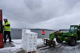 Rogna er ankommet Forsan i Steigen. Foto: Aquagen.