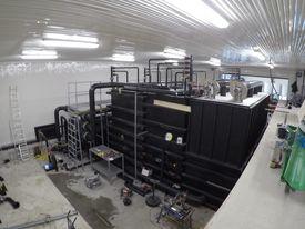 Resirkuleringsanlegg til påvekst under bygging. Foto: Atlantic Lumpus