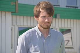 Jon Funderud, daglig leder i Seaweed Energy Solutions sier til kyst.no at de vil utvide produksjonen noe, og ønsker å produsere mer enn 20 tonn dette året. Foto: Therese Soltveit.