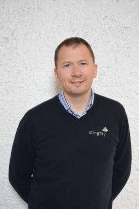 Daglig leder i Stingray Marine Solutions, John Arne Breivik sier at de jobber målbevisst med utvikling av laseren. Foto: Therese Soltveit.