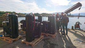 Stingray sine lasere klar for installasjon hos Nova Sea på Lovund. Foto: Stingray.