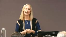 Renate Larsen administrerende direktør i Norges Sjømatråd. Screenchoot fra Fiskeridirektoratets fagkonferanse 2016.