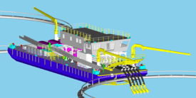 Illustrasjon av SLC-02 avlusingslekter med Hydrolicer. Denne skal drives på Salmar sine anlegg ved Smøla. Foto: Vamar.