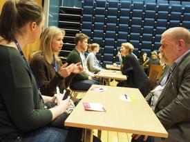 Speed date under Brohodekonferansen Vår 2017 i Rørvik (6-7. mars). Foto: Alexandra Neyts.