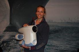 Christine Spiten i Blueye på Nor-Shipping 2017. Foto: Vibeke Blich.