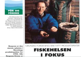 Fiskehelse i fokus under lanseringen av det første helsefôret. Foto: Faksimile fra Mærkanten.
