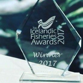 AKVA group delte stand med Egersund EHF. De to selskapene fikk tildelt prisen for beste stand, og mener messen var en suksess. Foto. AKVA Group.