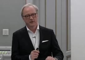 Administrerende direktør i Salmar Trond Williksen. Foto: Skjermdump fra presentasjon av Q3 2017 Salmar.
