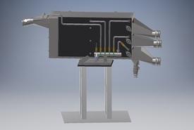 3D illustrasjon av Aqualitys sorteringsmaskin for rensefisk. Foto: Aquality.