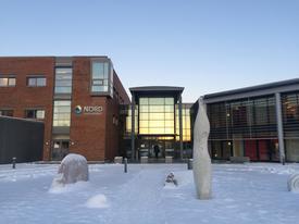 Nord universitet, campus Bodø nå i vinter. Foto: Svein-Arnt Eriksen.