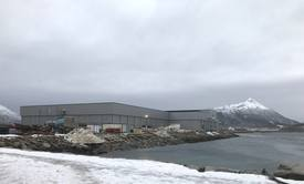 Cermaq-slakteriet på Storskjæret tar i disse daget form. Foto: Tord Dreyer/Cermaq.