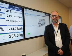 René Kjær er overbevist om at alle dataene man skaper i de ulike maskinene, også vil kunne komme oppdretterne til gode. Foto: Pål Mugaas Jensen.
