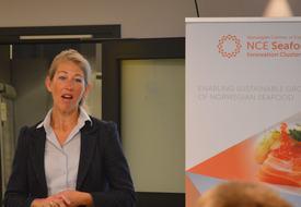 Tanja Hoel, administrerende direktør i NCE Seafood Innovation Cluster. Foto: Katarina Berthelsen.