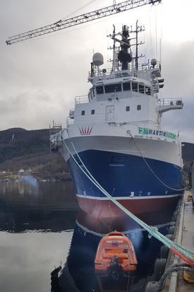 Martin til kai ved Havyard i Sogn. Foto: Trond Viggo Kvingedal.