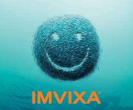 The Imvixa logo. A study shows that the drug cancontribute to larger fish more quickly.