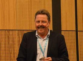 Thor Hukkelås, director of aquaculture R&D, Kongsberg Maritime,at the Tekna Aquaculture Conference. Photo: Katarina Berthelsen.