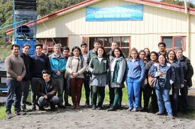 Delegación de Profesores y estudiantes del GTA (Grupo de Transferencia Acuícola de la Región de Los lagos). Foto: Incar.