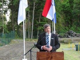 Antoon van den Berg durante la inauguración del CMG Catripulli. Foto: Erich Guerrero.