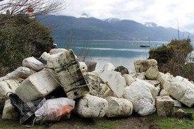 Ecofibras ha recibido cuatro camiones con material desde el Estuario. Foto: SalmonChile.