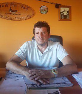 Aquiles Von Fach, gerente general de la empresa. Foto: Salmones Von Fach.