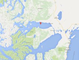El seno Skyring está ubicado en la Región de Magallanes. Foto: Google Maps.