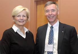 ACFFA ED Sue Farquharson and Morley Knight, Regional Director General, Fisheries and Oceans Canada.
