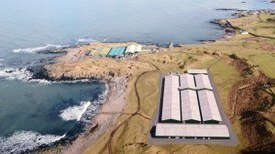 Marine Harvest is planning a £6m wrasse hatchery (front) near the existing hatchery (back) at Machrihanish. Image: Marine Harvest