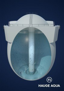 Marine Harvest has six licences for its Egg closed containment concept. Image: Hauge Aqua