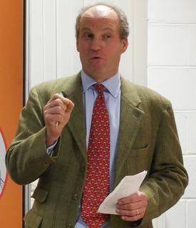 Wester Ross Fisheries boss Gilpin Bradley gave a short speech at the AquaGen opening. Photo: FFE
