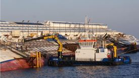 The Voe Earl was used extensively in the salvage of the Costa Concordia. Photo: Delta Marine