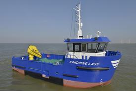 The 1507 utility vessel was developed after talks between the construction consortium Bijlsma Wartena, Nauplius Workboats and fish farms. Image: E.J. Bruinekool Fotografie en Tekst
