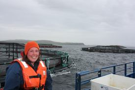 Kimberley Izdebski. Site Manager, Scottish Sea Farms. Image: Rob Fletcher.