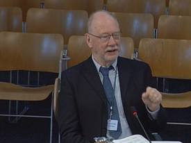 Paul Tett of SAMS gives evidence to the REC Committee.
