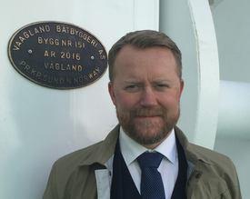 Isak Berntsen er daglig leder i Vaagland Båtbyggeri AS. Foto: Privat