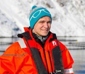 Kommunikasjonsansansvarlig Lasse Sørnes. Foto: Grieg Seafood Finnmark