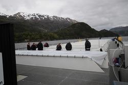 Anlegget er 50 meter langt, 12 meter bredt, og stikker 8 meter ned i sjøen.