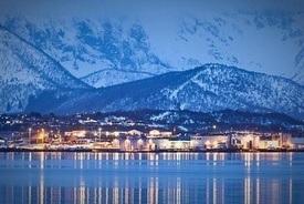 Nordlaksinvesterer stort ikraftverk, vannledning og prosessbygg på Innhavet. Foto: Nordlaks