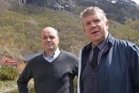 Tore Valderhaug i Cermaq og Einar Wathne i Ewos. Foto: Kristin Vallevik Gjerde