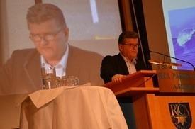 Gunnar Domstein ble gjenvalgt som FHL-leder på dagens årsmøte.